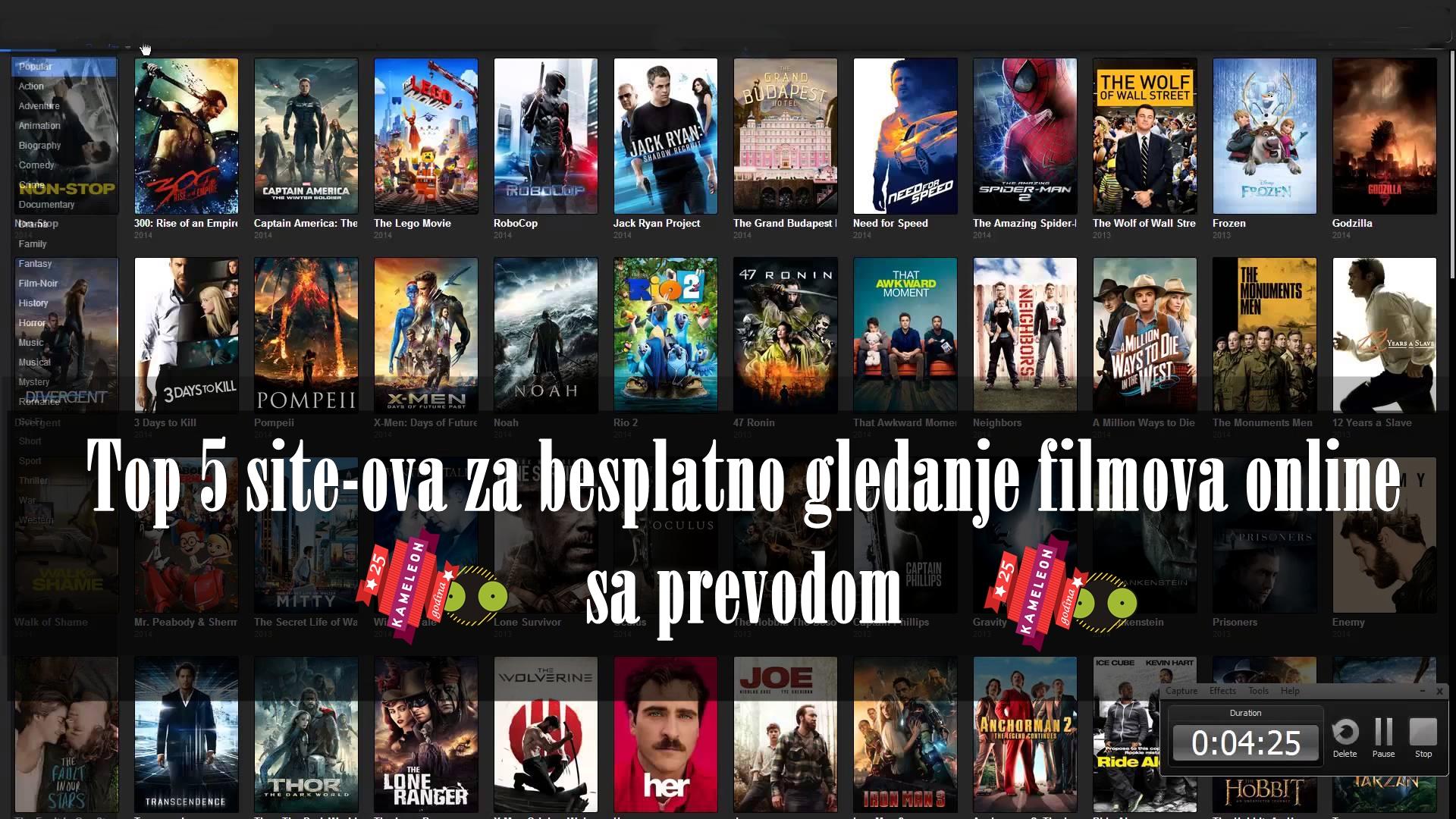 Najbolji sajtovi za gledanje filmova sa prevodom na srpski