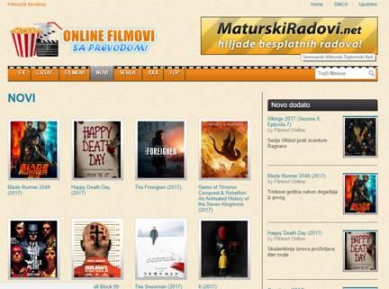 Sa filmova za sajt gledanje i prevodom serija Videoteka