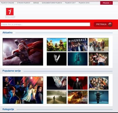 Za filmova gledanje sajtovi hrvatski Web stranice