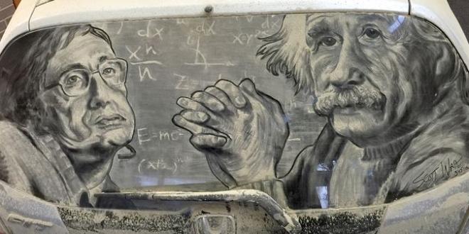 Nevjerovatna umjetnost na prašnjavim prozorima